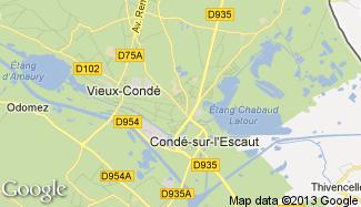 Plan de Condé-sur-l'Escaut