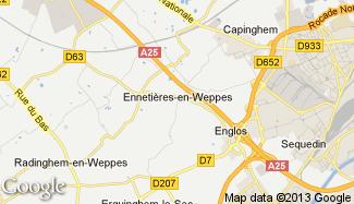 Plan de Ennetières-en-Weppes