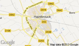 Plan de Hazebrouck