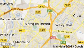 Plan de Marcq-en-Baroeul