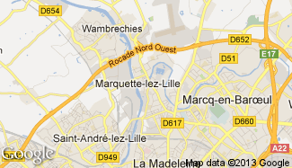 Plan de Marquette-lez-Lille