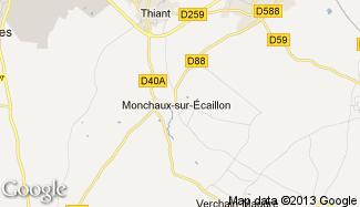 Plan de Monchaux-sur-Écaillon