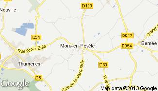 Plan de Mons-en-Pévèle