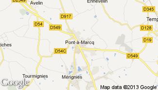 Plan de Pont-à-Marcq
