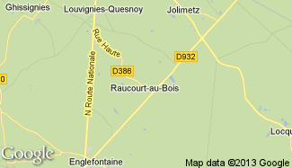 Plan de Raucourt-au-Bois