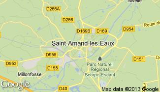 Plan de Saint-Amand-les-Eaux