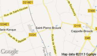 Plan de Saint-Pierre-Brouck
