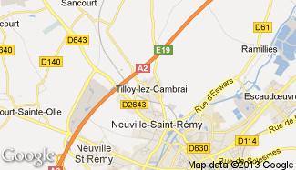 Plan de Tilloy-lez-Cambrai