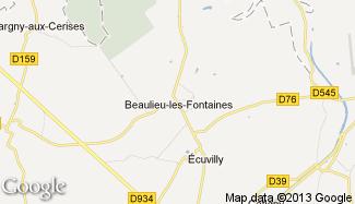Plan de Beaulieu-les-Fontaines