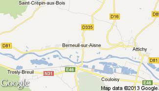 Plan de Berneuil-sur-Aisne