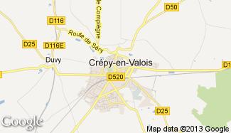 Plan de Crépy-en-Valois