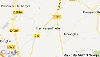 Plan de Fresnoy-en-Thelle