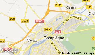 Plan de Margny-lès-Compiègne