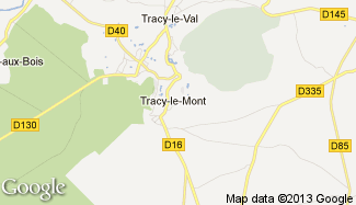 Plan de Tracy-le-Mont