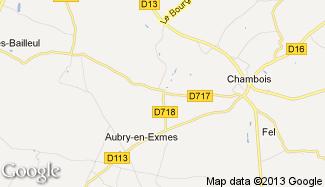 Plan de Aubry-en-Exmes