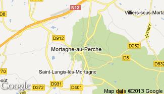 Plan de Mortagne-au-Perche