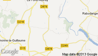 Plan de Saint-Aubert-sur-Orne