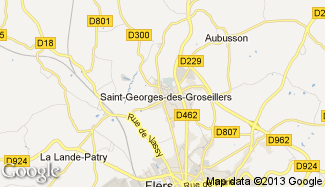 Plan de Saint-Georges-des-Groseillers