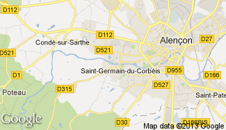 Plan de Saint-Germain-du-Corbéis