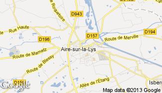 Plan de Aire-sur-la-Lys