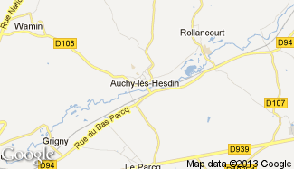 Plan de Auchy-lès-Hesdin