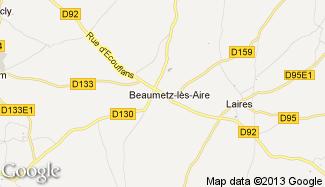 Plan de Beaumetz-lès-Aire