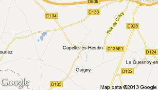 Plan de Capelle-lès-Hesdin