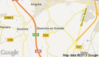 Plan de Givenchy-en-Gohelle