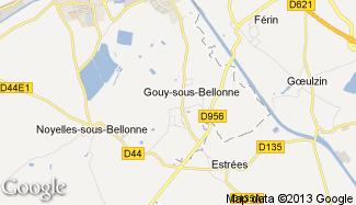 Plan de Gouy-sous-Bellonne
