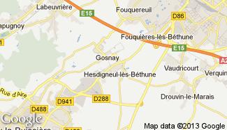 Plan de Hesdigneul-lès-Béthune