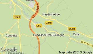 Plan de Hesdigneul-lès-Boulogne