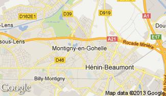 Plan de Montigny-en-Gohelle