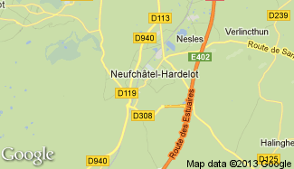 Plan de Neufchâtel-Hardelot