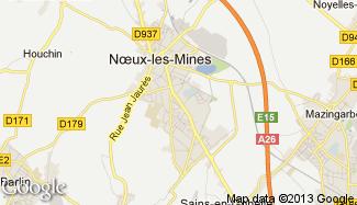 Plan de Noeux-les-Mines