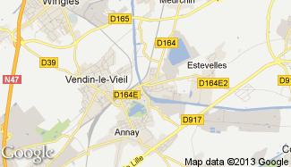 Plan de Pont-à-Vendin