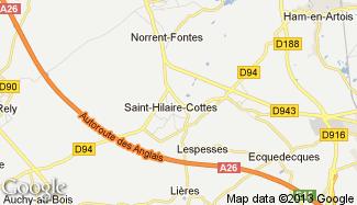 Plan de Saint-Hilaire-Cottes