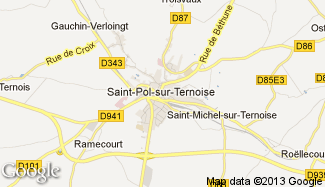 Plan de Saint-Pol-sur-Ternoise