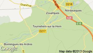 Plan de Tournehem-sur-la-Hem