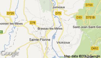 Plan de Brassac-les-Mines