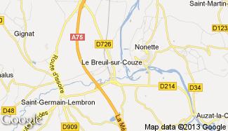 Plan de Le Breuil-sur-Couze