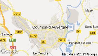 Plan de Cournon-d'Auvergne