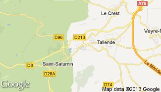 Plan de Saint-Amant-Tallende