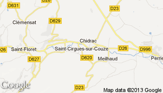 Plan de Saint-Cirgues-sur-Couze