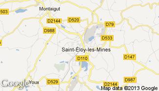 Plan de Saint-Éloy-les-Mines