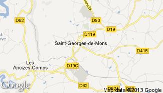 Plan de Saint-Georges-de-Mons