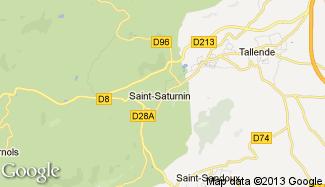 Plan de Saint-Saturnin