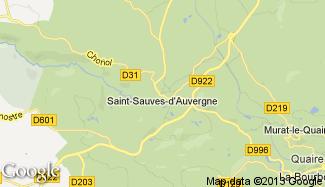 Plan de Saint-Sauves-d'Auvergne