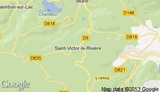 Plan de Saint-Victor-la-Rivière