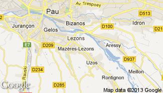 Plan de Mazères-Lezons