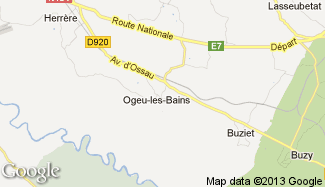 Plan de Ogeu-les-Bains